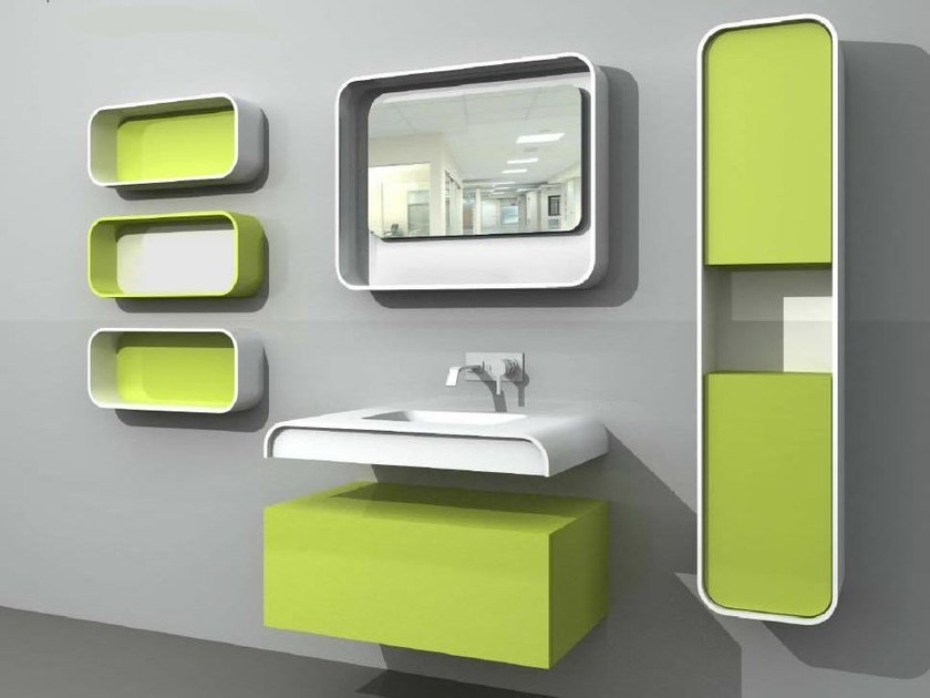 Single wall-mounted vanity unit DuepuntoZero COMP 2 - LASA IDEA