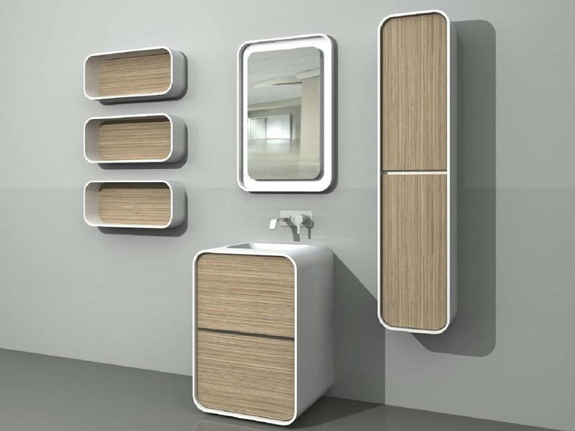 Design floor-standing single vanity unit with drawers DuepuntoZero COMP 4 - LASA IDEA