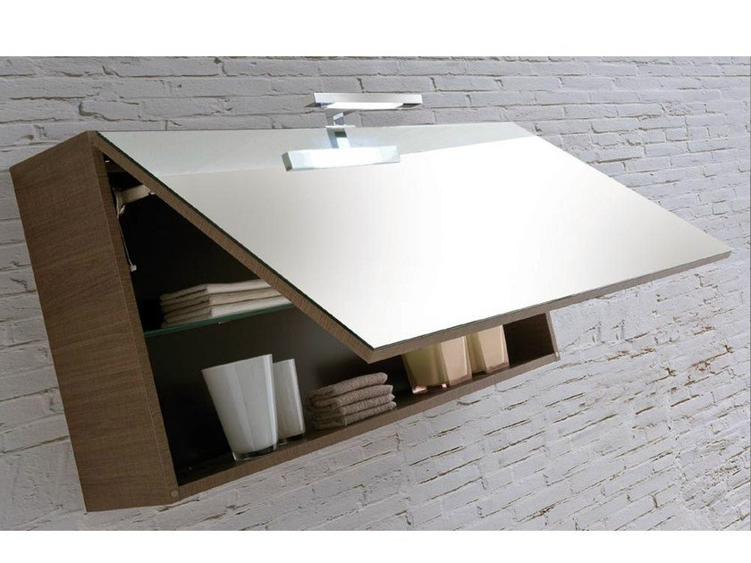 Storage wall cabinet with mirror VANITY 04 | Wall cabinet - LASA IDEA