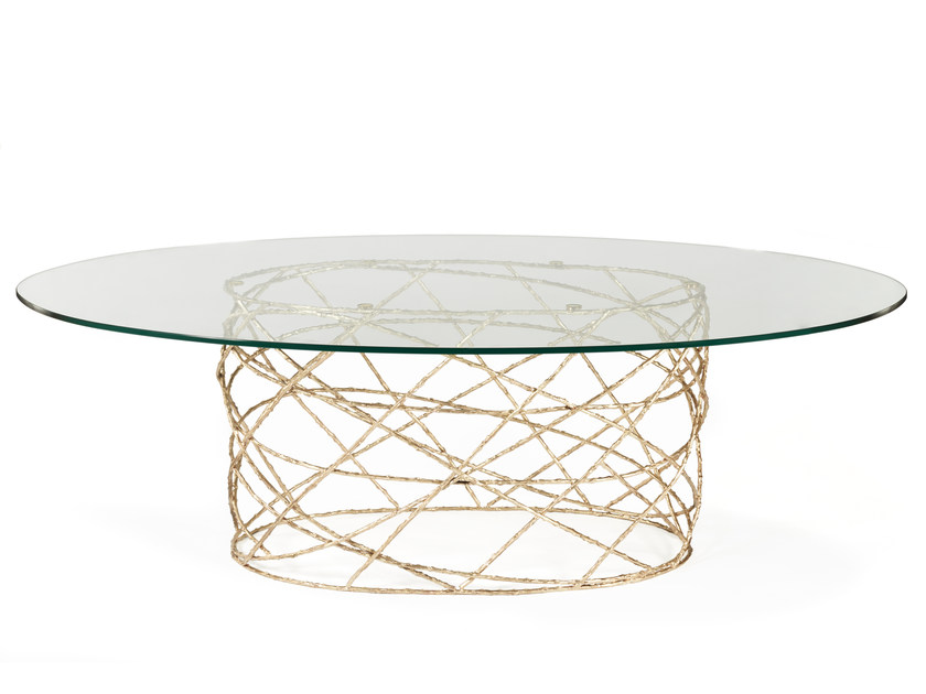 Oval glass living room table ROSEBUSH | Oval table - Ginger & Jagger