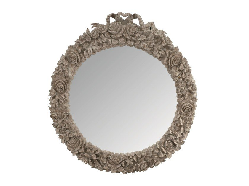 Oval framed mirror ROSE by BLEU PROVENCE