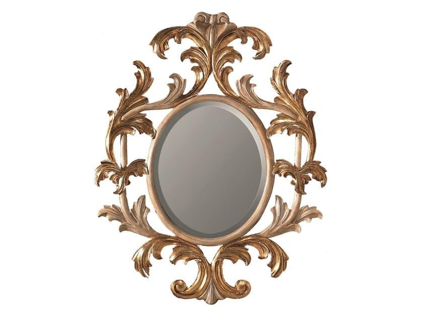Oval framed mirror LOTUS - BLEU PROVENCE