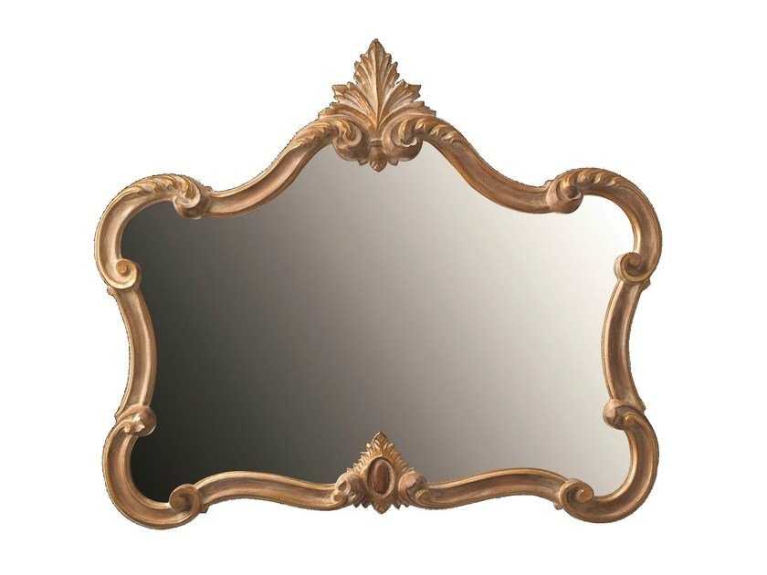 Wall-mounted framed mirror TULIPE by BLEU PROVENCE