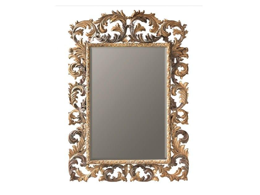 Miroir rectangulaire avec cadre marguerite by bleu provence for Miroir cadre bois salle de bain