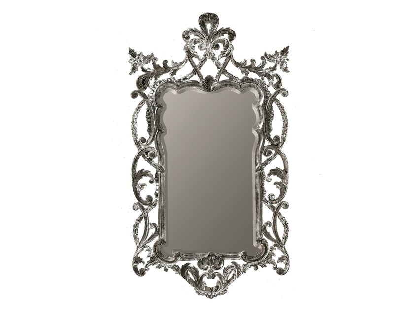 Rectangular framed mirror VIOLET - BLEU PROVENCE