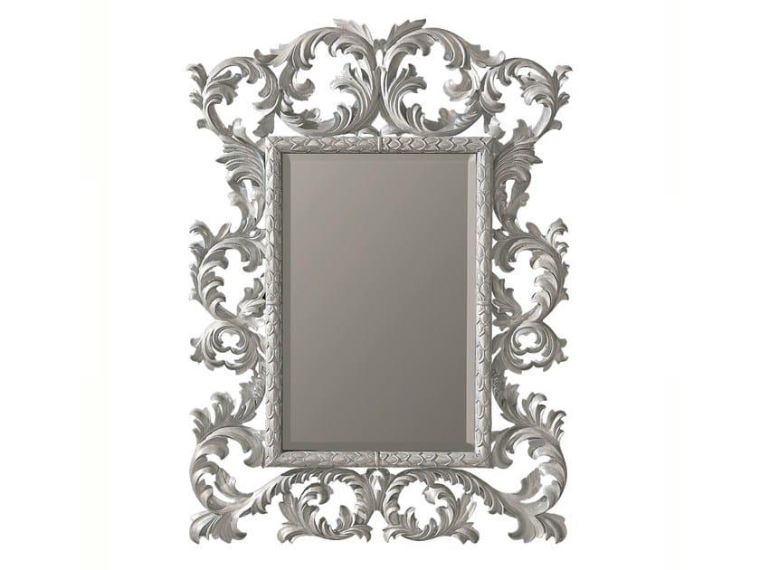 Rectangular framed mirror EDERA - BLEU PROVENCE