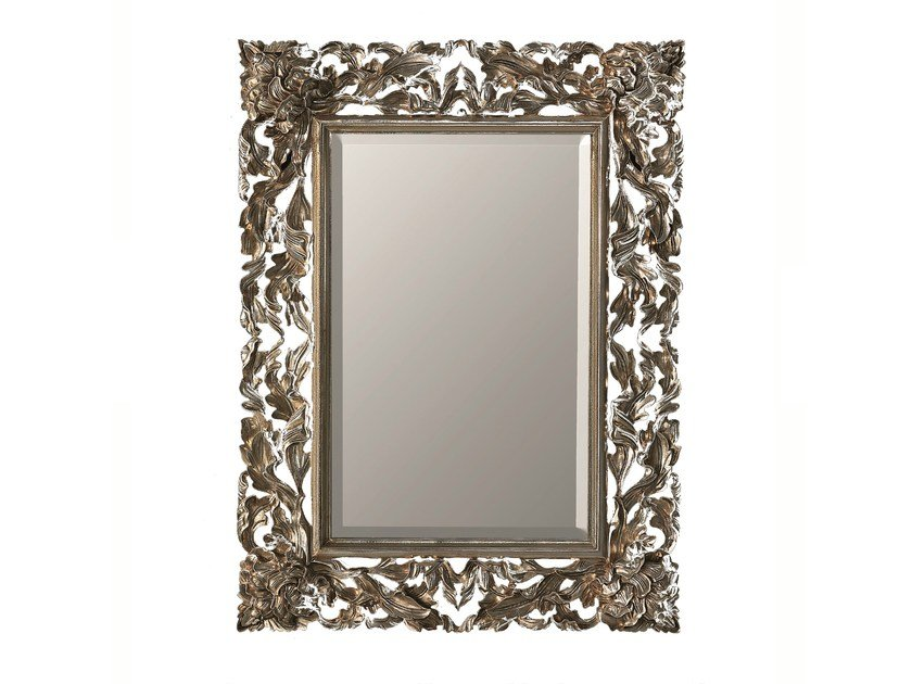 Rectangular framed mirror CALLA - BLEU PROVENCE