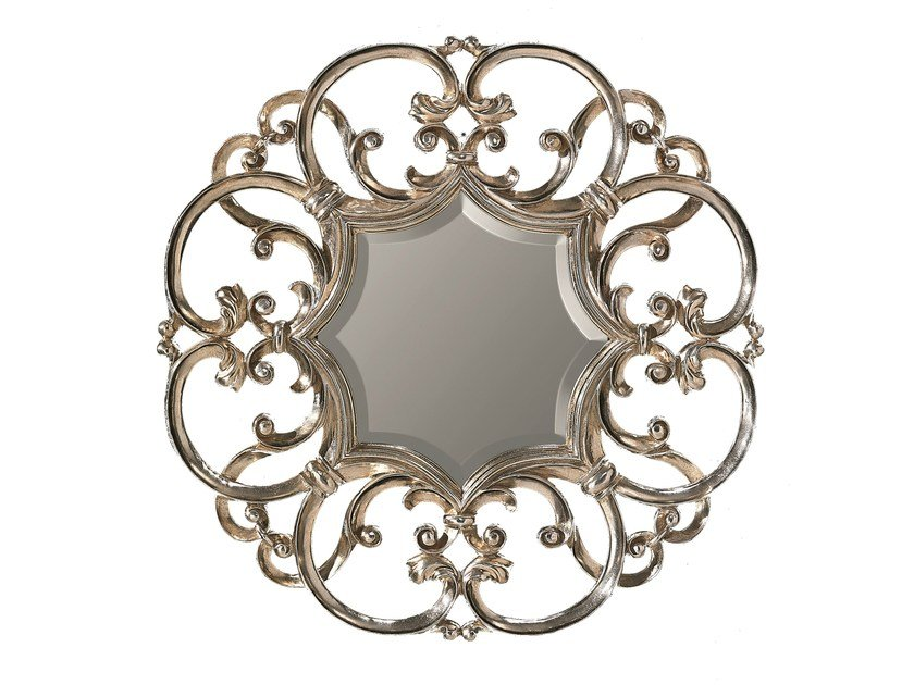 Round framed mirror IRIS - BLEU PROVENCE