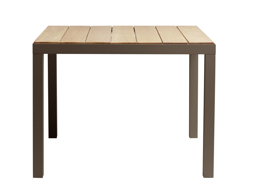 Square teak garden table PICASS | Square table by TRIBÙ