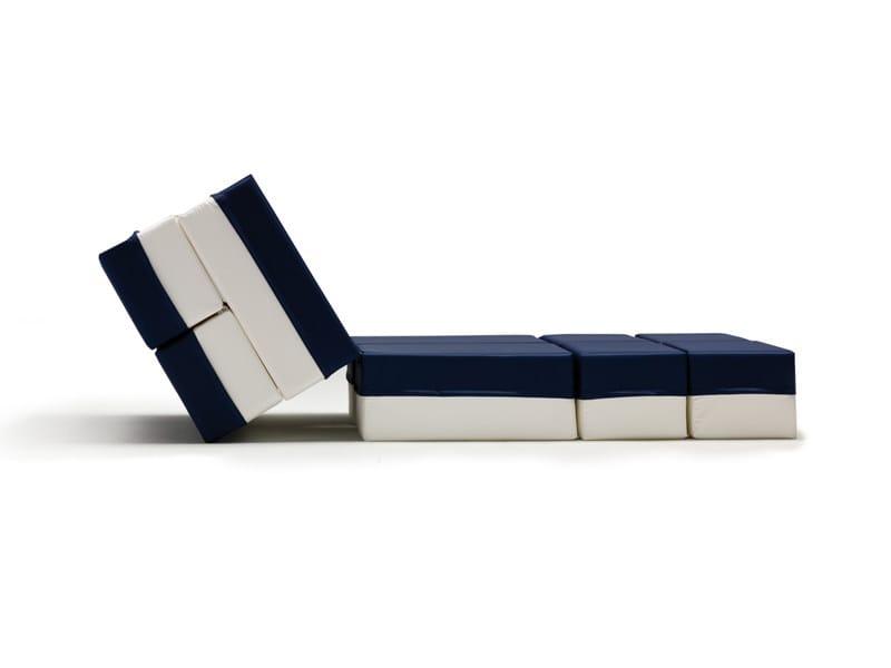 Upholstered pouf bed KUBOLETTO - Milano Bedding