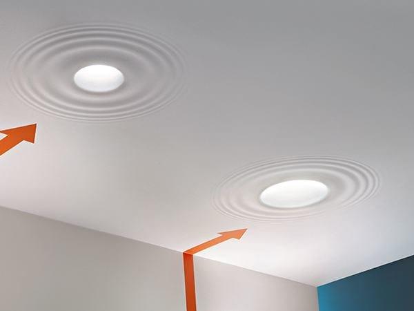 Fluorescent semi-inset lamp TEARDROP MEDIUM - FLOS