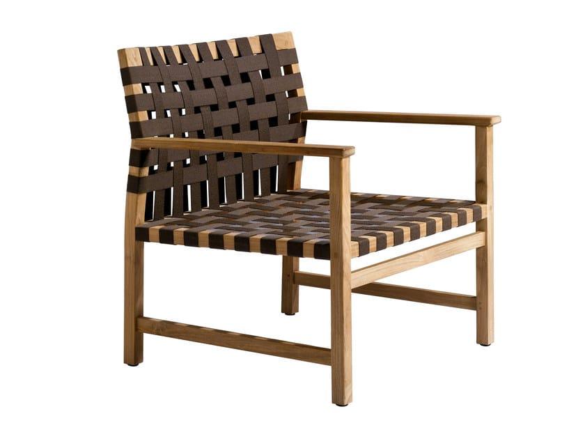 Garden armchair with armrests VIS À VIS | Garden armchair - TRIBÙ