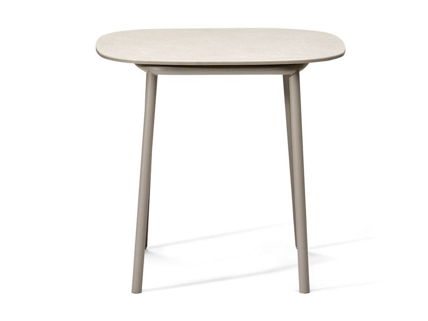 Square ceramic garden side table TOSCA | Coffee table - TRIBÙ