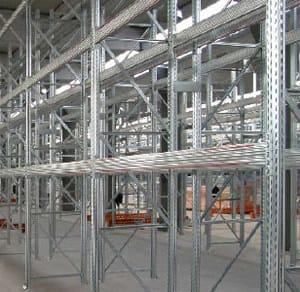 Galvanized steel shelveing system AMTOBLOK 3S - Scaff System
