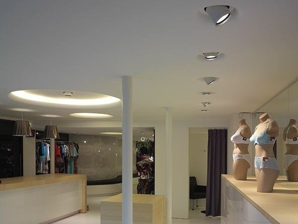 Adjustable built-in aluminium USO 600 FOR MODULAR CEILING by FLOS