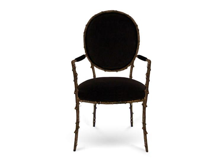 chaise m daillon rembourr e en laiton avec accoudoirs enchanted collection enchanted by koket. Black Bedroom Furniture Sets. Home Design Ideas