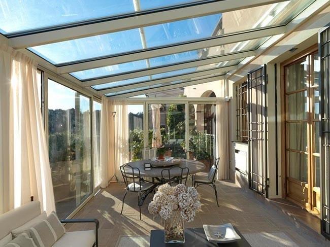 Veranda solaria cagis for Piccoli piani cabina con soppalco e veranda