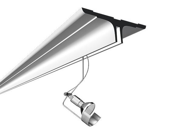 Semi-inset modular lighting profile LIGHTLIGHT® IN SYSTEM PROFILE SURFACE - FLOS
