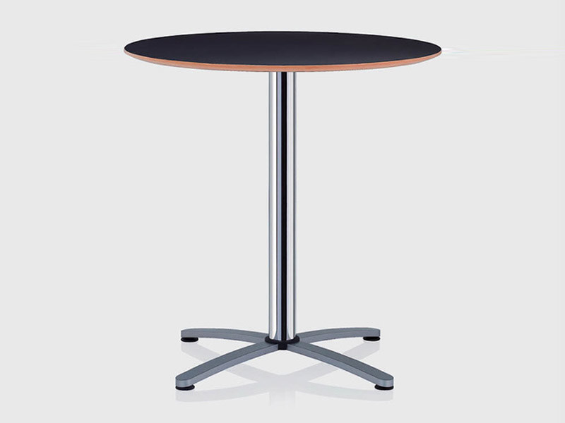 Round table with 4-star base CROSS | Table with 4-star base - Brunner