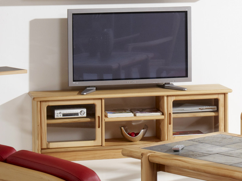 Low wooden TV cabinet TV1-8 | TV cabinet - Dyrlund
