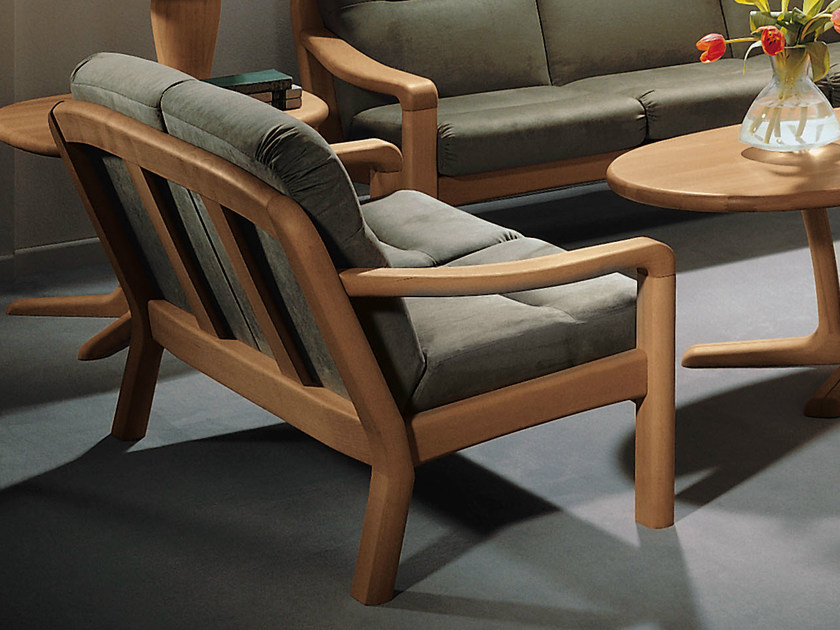 2 seater wooden sofa 1230A | 2 seater sofa by Dyrlund