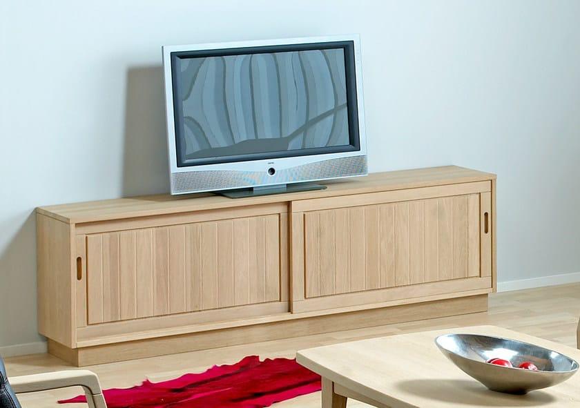 Wooden TV cabinet / sideboard 0179-3 | TV cabinet by Dyrlund