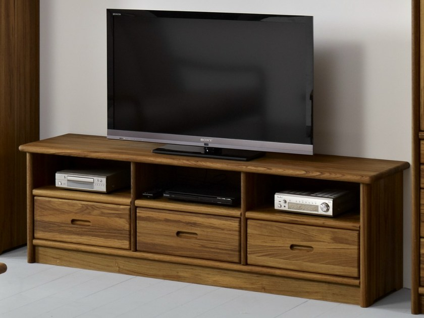 Wooden TV cabinet TV3-3 | TV cabinet by Dyrlund