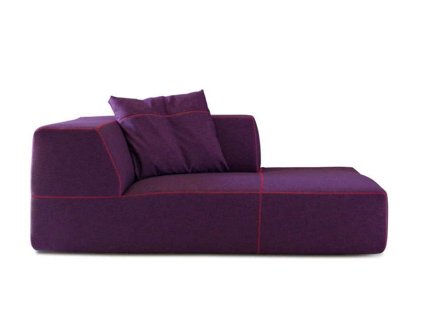 Upholstered fabric day bed BEND | Day bed - B&B Italia