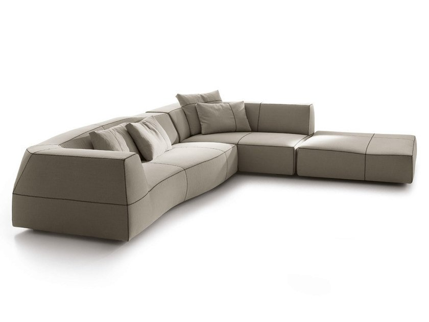 Corner sectional fabric sofa BEND | Corner sofa by B&B Italia