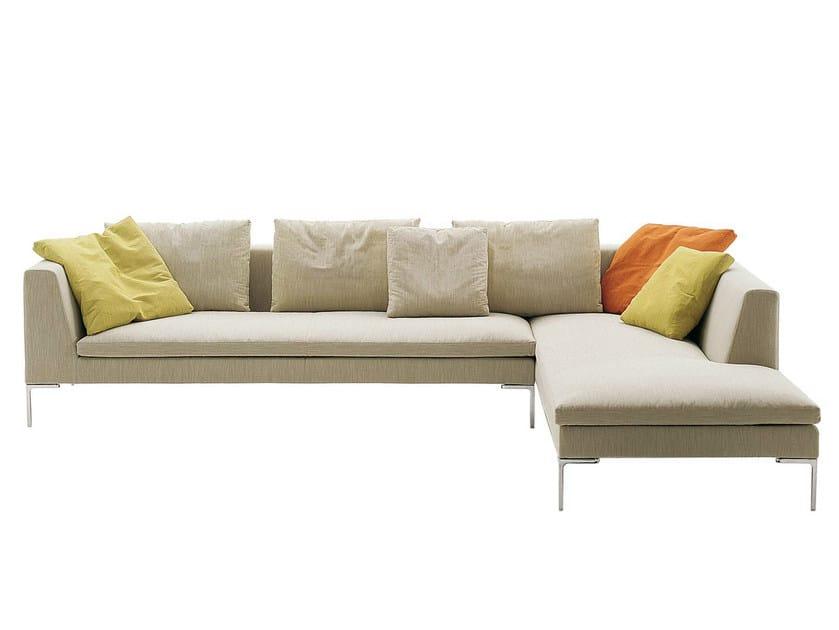 Corner sectional fabric sofa CHARLES | Corner sofa by B&B Italia