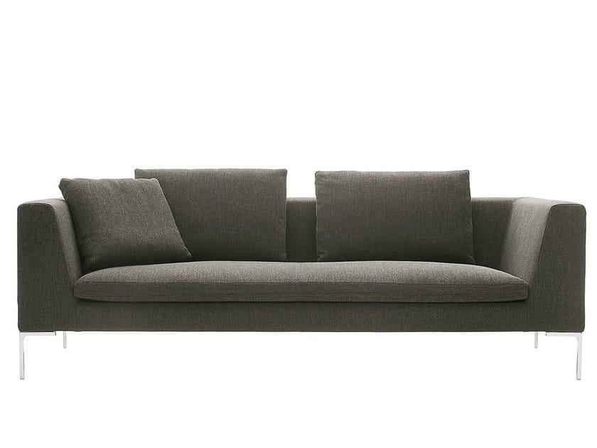 3 seater fabric sofa CHARLES | Upholstered sofa - B&B Italia