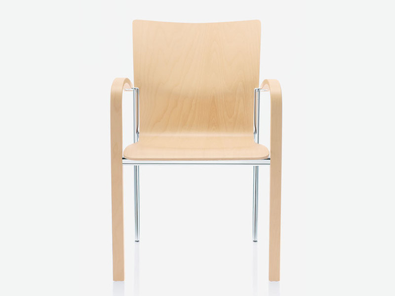 Stackable wooden chair PLAZA | Stackable chair by Brunner