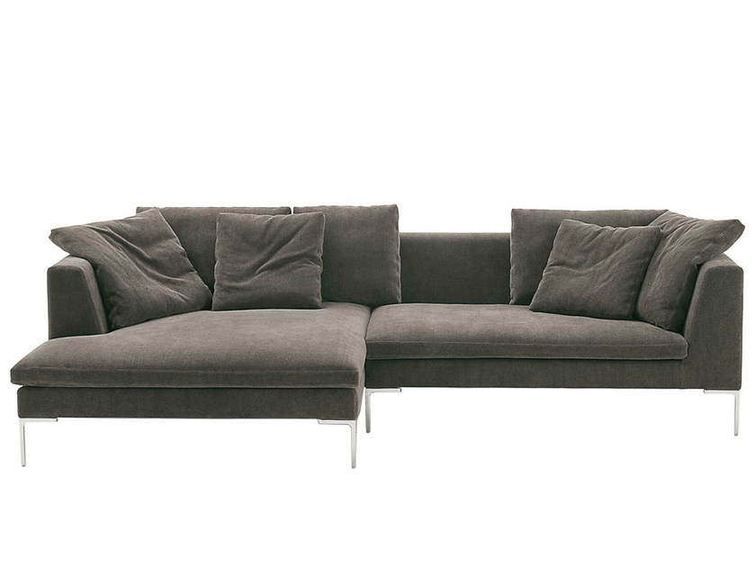 Corner fabric sofa CHARLES LARGE | Corner sofa - B&B Italia