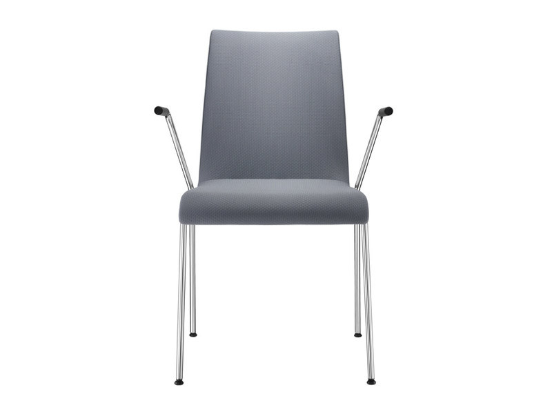 Upholstered wooden chair with armrests PRIME | Chair with armrests by Brunner