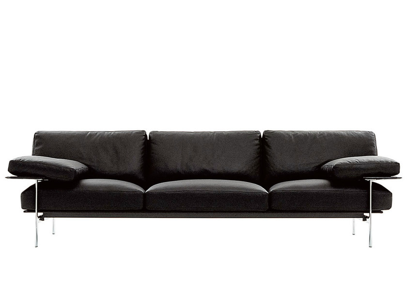 3 seater leather sofa DIESIS | Leather sofa - B&B Italia