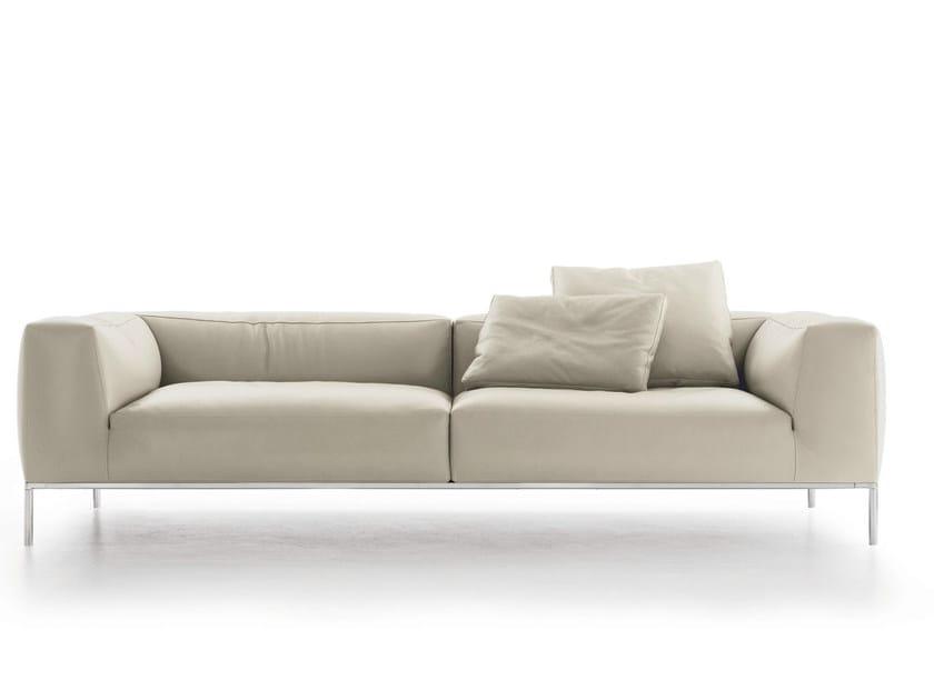 3 seater leather sofa FRANK | Leather sofa - B&B Italia
