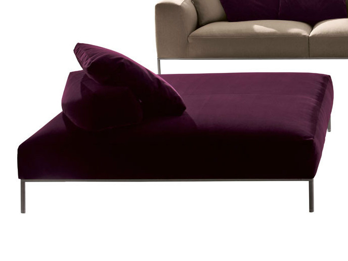Upholstered fabric pouf FRANK | Pouf - B&B Italia