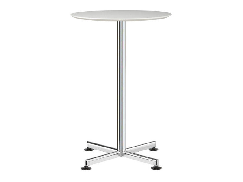 Height-adjustable round table with 4-star base TORINO | Table with 4-star base - Brunner