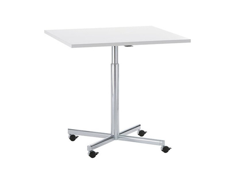 Height-adjustable square table with 4-star base TORINO | Square table by Brunner