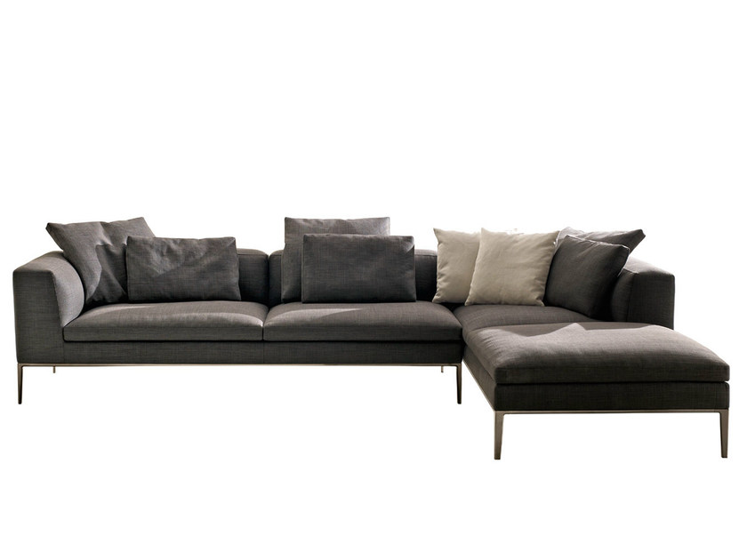 Corner sectional fabric sofa MICHEL | Fabric sofa - B&B Italia