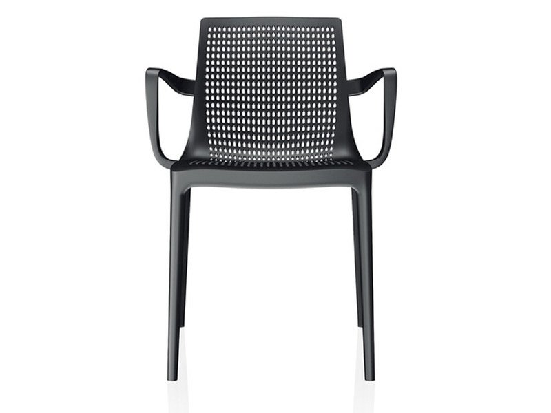 Stackable plastic chair with armrests TWIN | Chair with armrests - Brunner