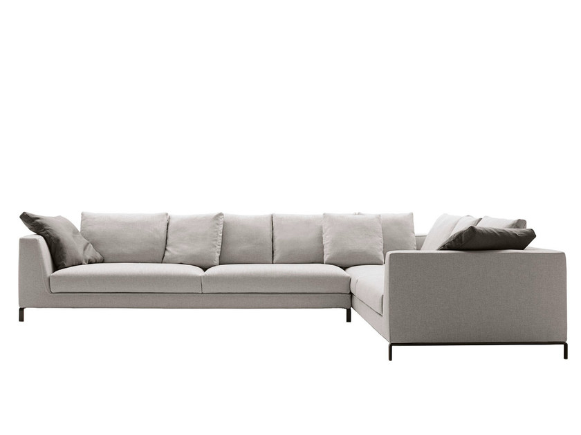 Corner sectional fabric sofa RAY | Sectional sofa by B&B Italia