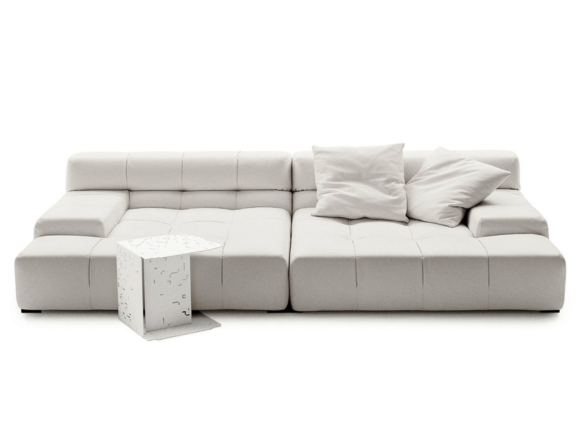 Sectional leather sofa TUFTY TIME LEATHER | Sectional sofa - B&B Italia