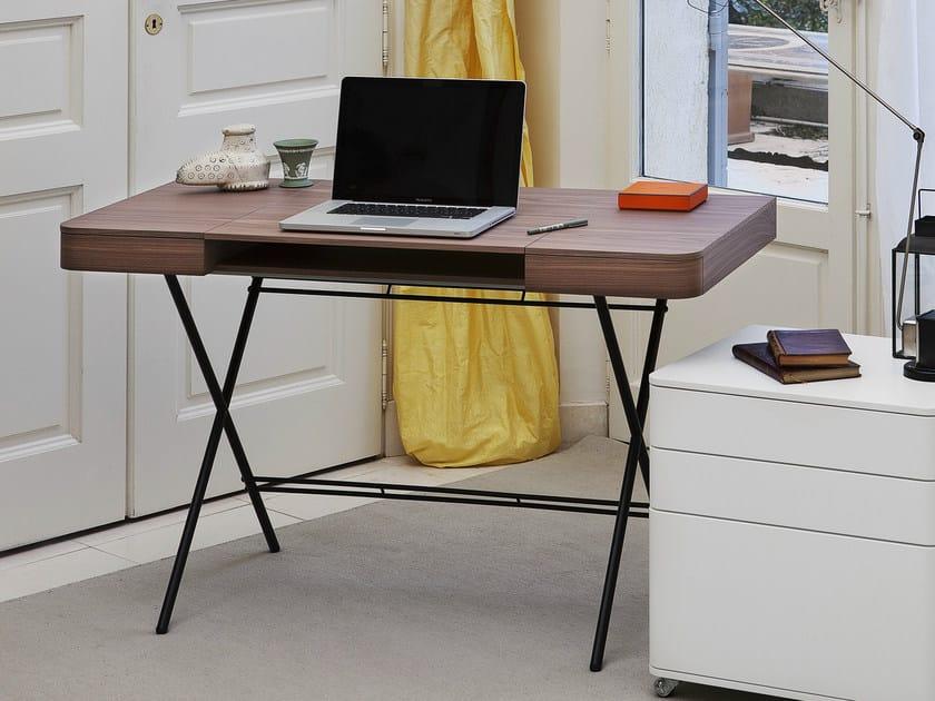MDF writing desk COSIMO NOCE CANALETTO - Adentro