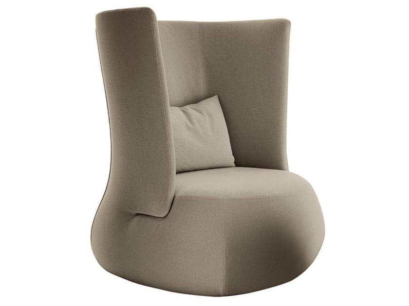 High-back upholstered fabric armchair FAT SOFA   High-back armchair - B&B Italia