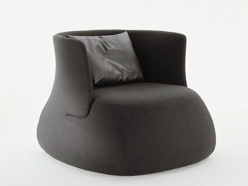 Upholstered fabric armchair FAT SOFA | Armchair - B&B Italia