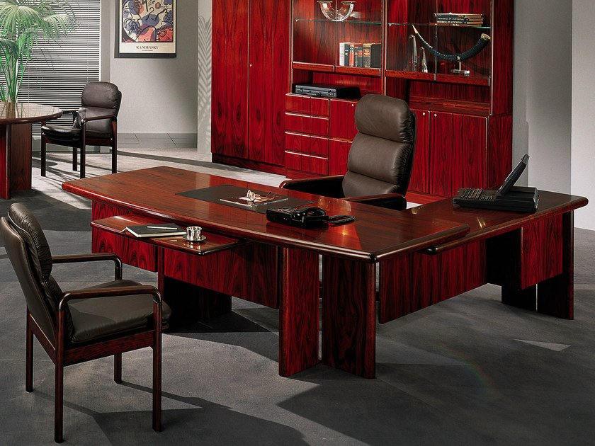 Rosewood executive desk COMMODORE | Rosewood office desk by Dyrlund