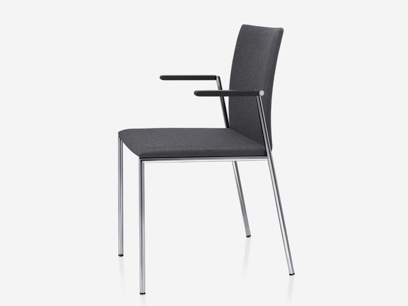 Upholstered Stackable Chair With Armrests MILANOLIGHT | Chair With Armrests  By Brunner