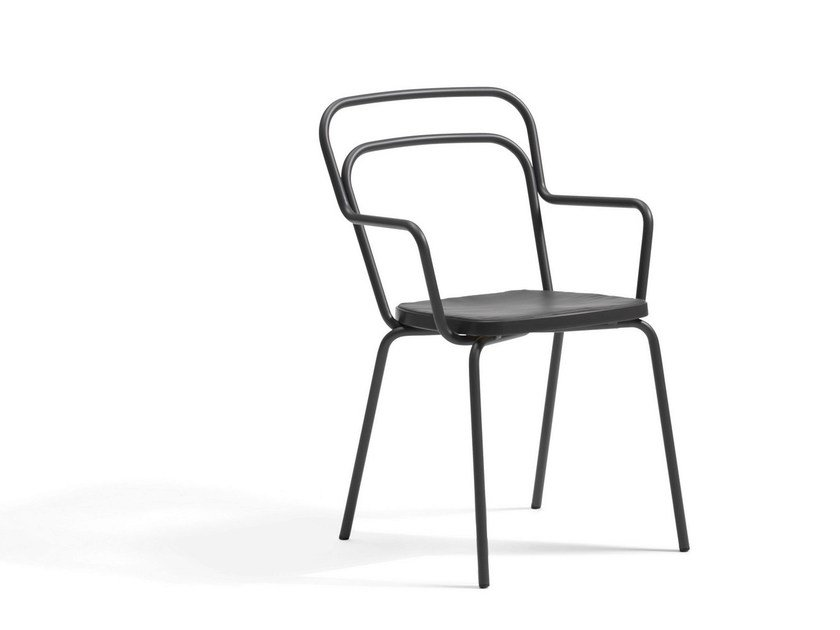 Stackable steel garden chair KAFFE | Garden chair - Blå Station