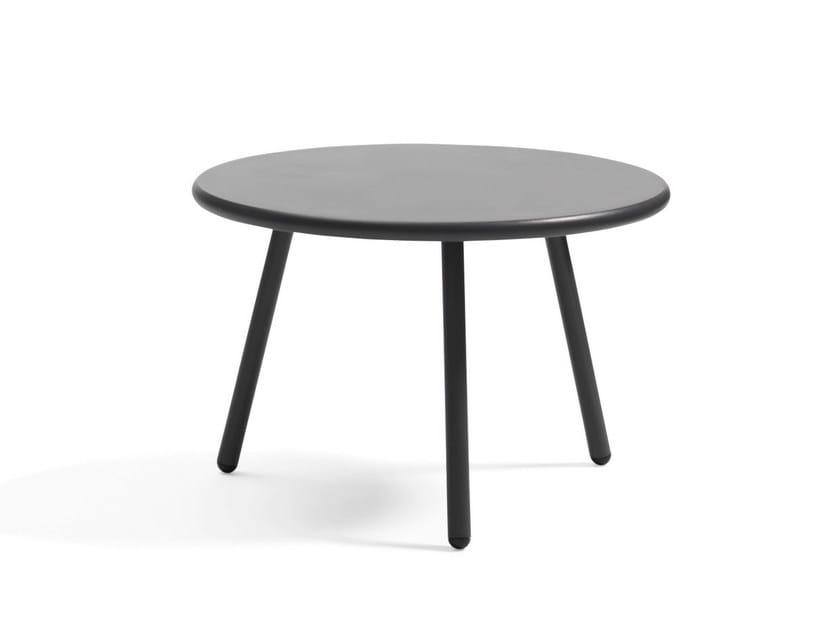 Folding garden table KAFFE | Round garden table - Blå Station